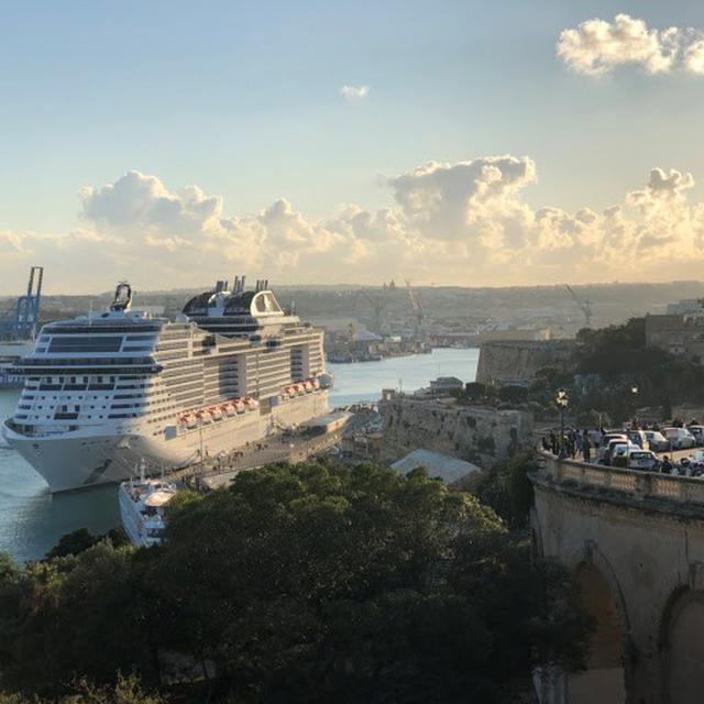 画像: MSCグランディオーサ マルタ島ヴァレッタにて撮影