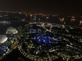 画像: マリーナベイ・サンズから見た夜景(イメージ)
