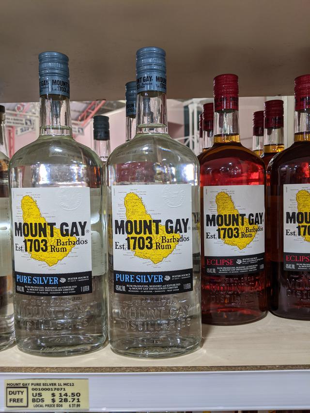 画像: バルバドスの有名なラム酒ブランドMOUNT GAY/齋藤撮影