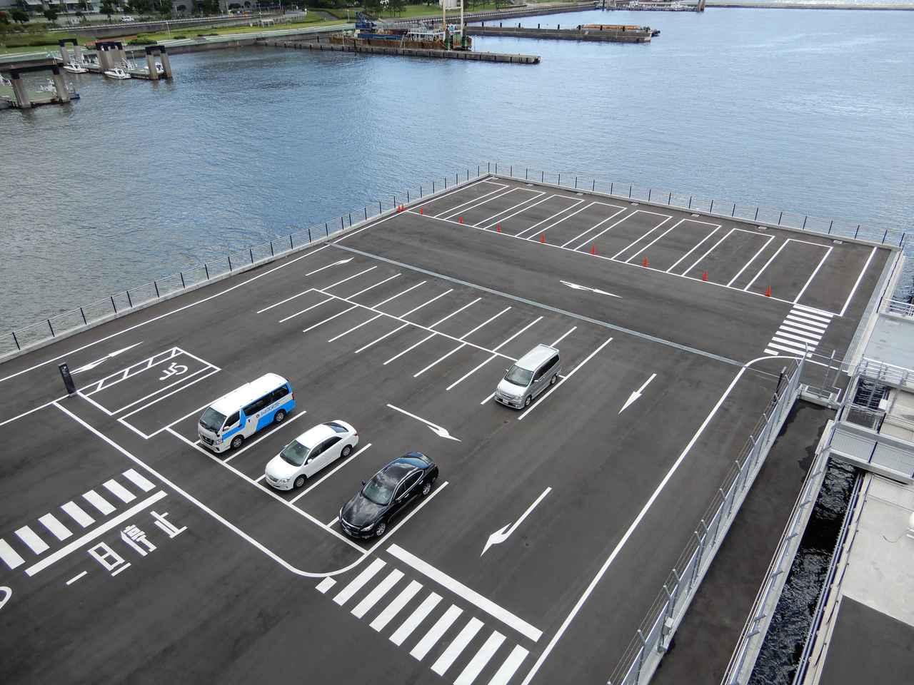 画像: 東京国際クルーズターミナル駐車場(弊社スタッフ撮影)
