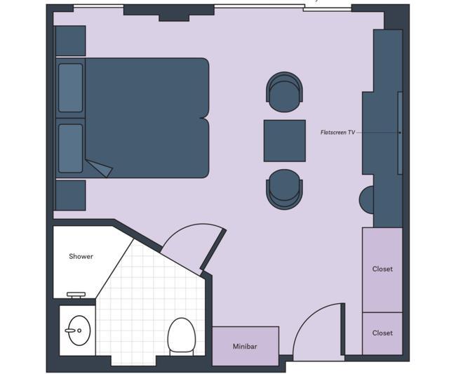 画像: スイート客室の見取り図©️UNIWORLD