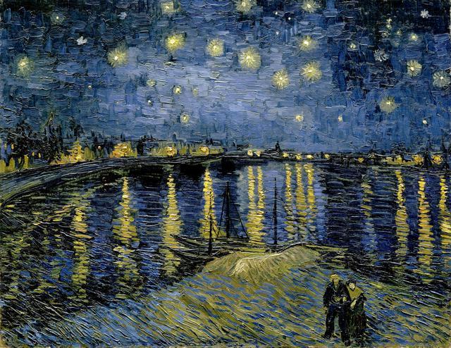 画像: 『ローヌ川の星月夜』