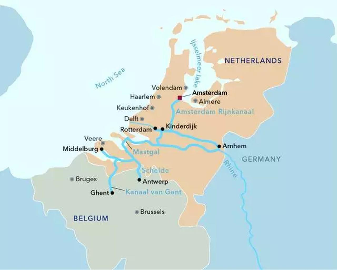 画像: 地図提供©️Lueftner cruises