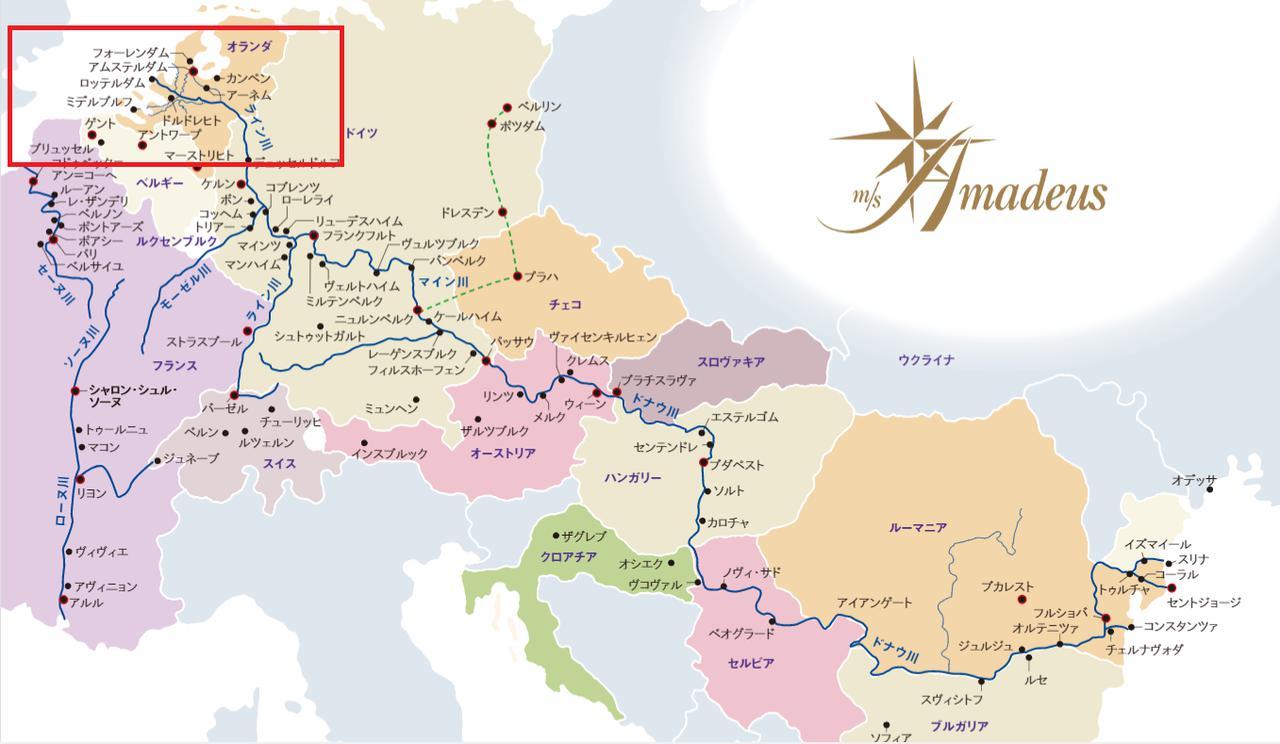 画像: 地図提供 ⒸICM International Cruise Marketing Ltd