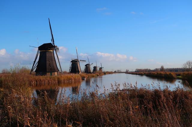 画像: キンデルダイクの風車(イメージ)
