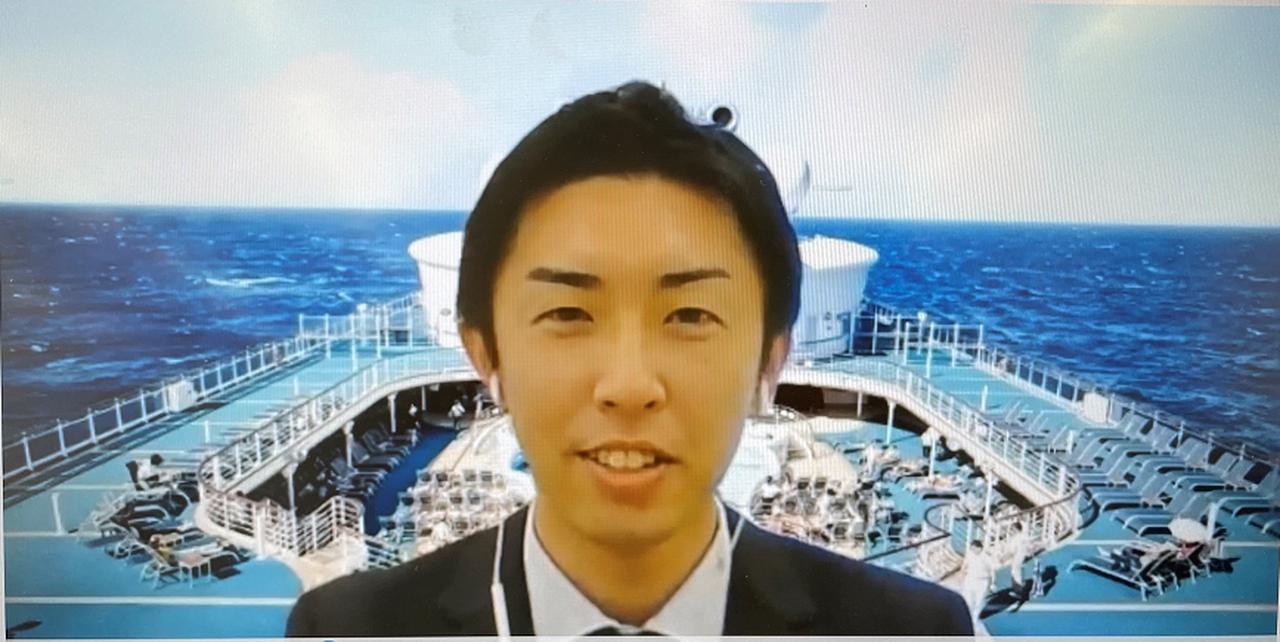 画像: オンライン説明会でのスクリーンショット(船会社スタッフ様)