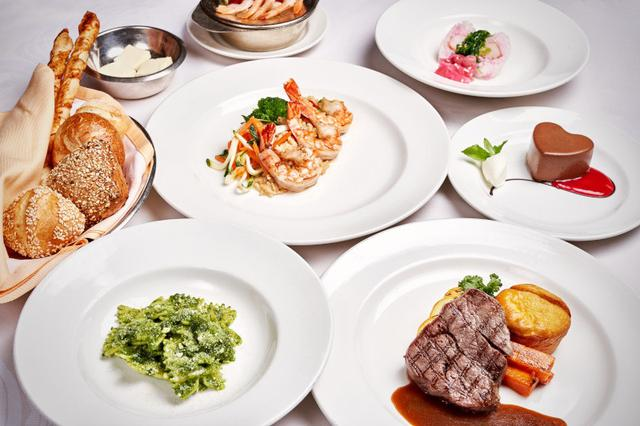 画像: フルコースのお食事(イメージ)