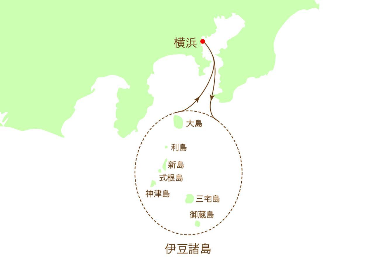 画像: 伊豆諸島周遊イメージマップ
