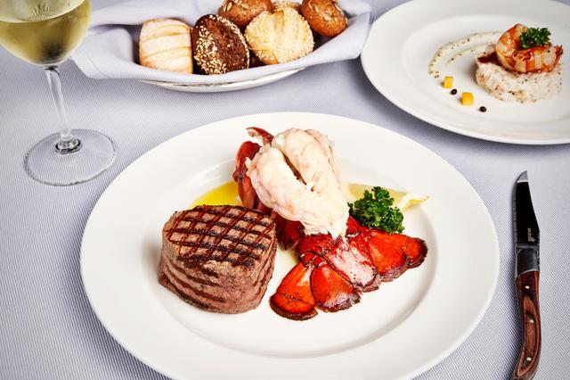 画像2: ステーキハウスの食事(イメージ)