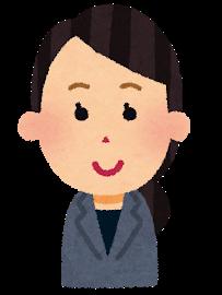 女性会社員の表情イラスト「笑顔」