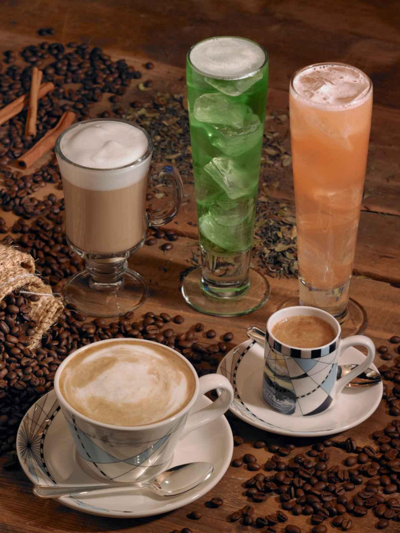 画像: エスプレッソやカフェ・ラテなど(イメージ)