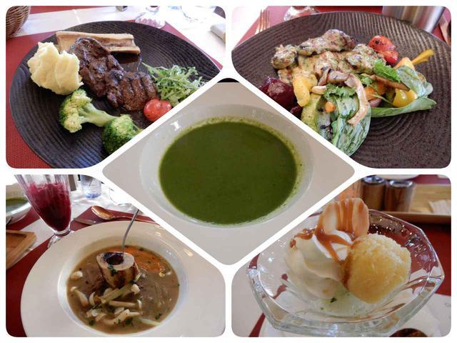 画像1: HSハーンリゾートでのお食事一例(添乗員撮影)