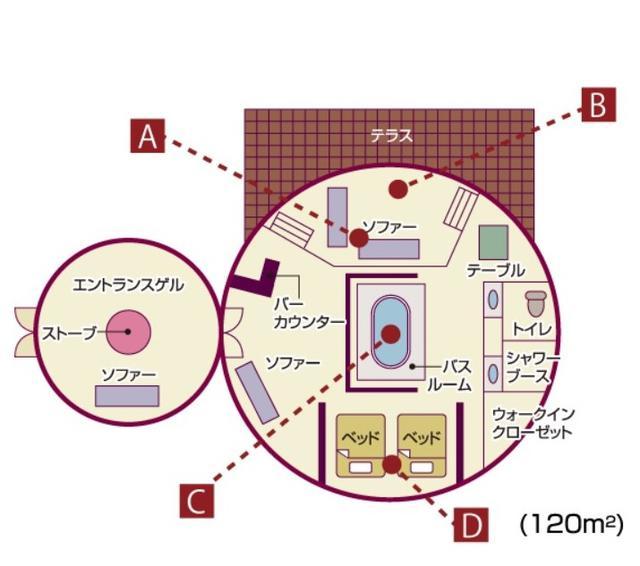 画像: ゲルの見取り図(HSハーンリゾート提供)