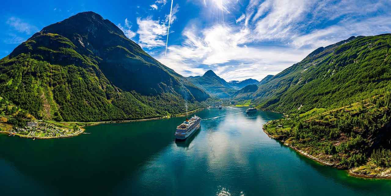 画像: ゲイランゲルフィヨルド(ノルウェー)