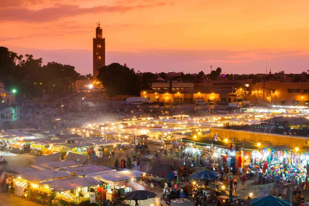 画像: 世界遺産 マラケシュ ジャマ・エル・フナ広場(イメージ)