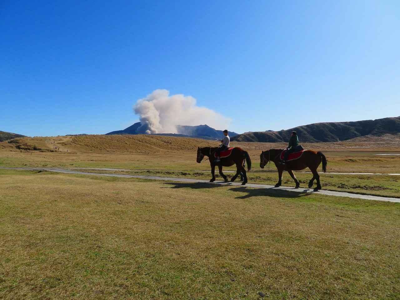 画像: お客様作品:羽賀 道行様(東京都在住) 乗馬越しに見る中岳噴煙