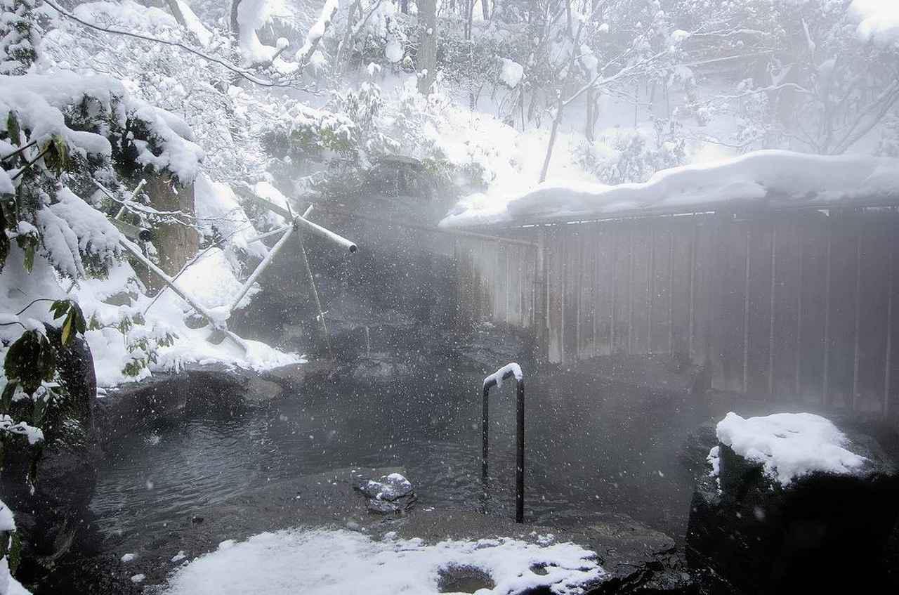 画像: 冬の露天風呂(イメージ)