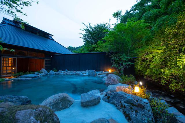 画像: 大浴場 村中の湯 たゆたゆ 露天風呂(イメージ)