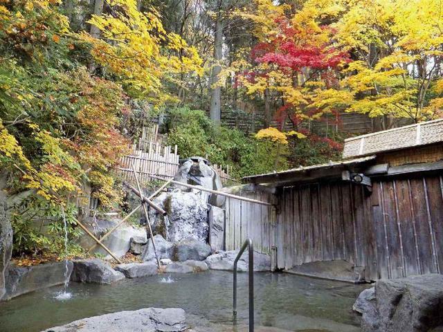 画像: 秋の露天風呂(イメージ)