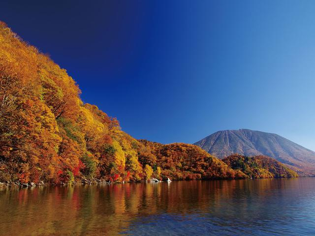 画像: 中禅寺湖と男体山の紅葉/イメージ