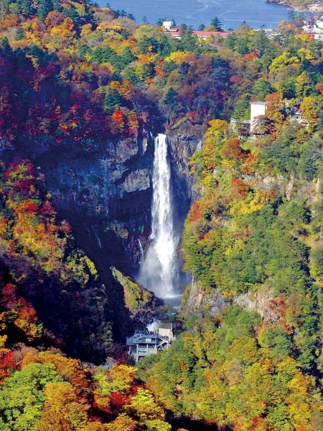 画像: 華厳の滝と紅葉/イメージ