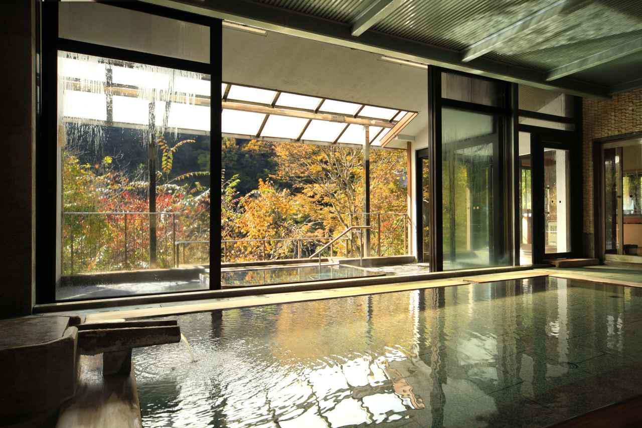 画像: 緑霞山宿 藤井荘大浴場 秋(イメージ)