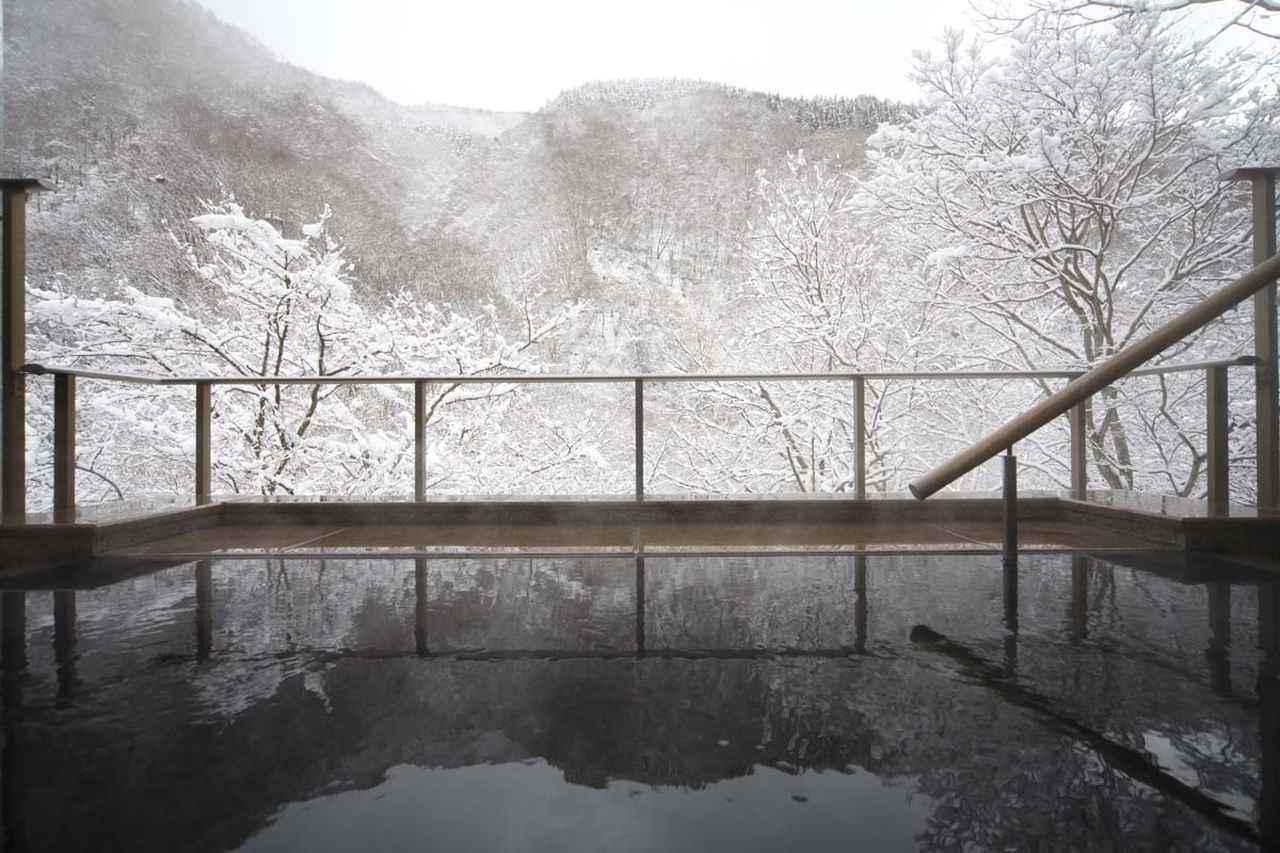 画像: 緑霞山宿 藤井荘露天風呂 冬(イメージ)