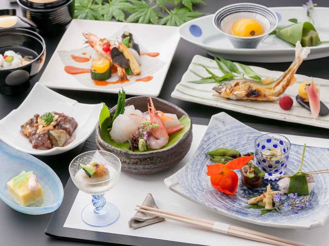 画像: 和食一例(イメージ) 『旬菜ダイニング白樺』にてお召し上がりください。 季節ごとの旬の食材と地元ならではの味を愉しむことができます。 朝食のお味噌汁の美味しさは、幸せな気分にさせてくれます。