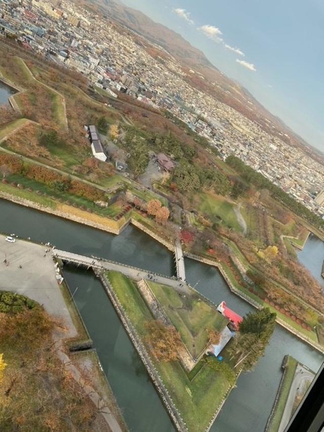 画像: 五稜郭タワーからの眺め (弊社添乗員撮影)