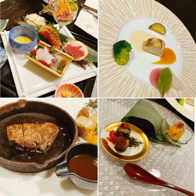 画像: 望楼NOGUCHI函館・夕食の一例 (弊社添乗員撮影)