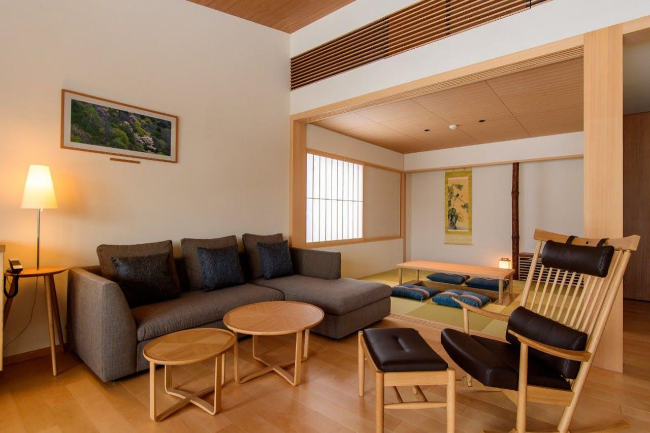 画像: 和の雰囲気が漂う畳の間と洋室を設えた和洋室タイプの「水の間」(イメージ)