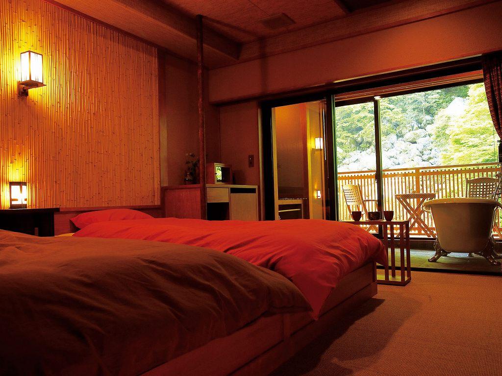 画像: 二人静 <06174>一花一葉 客室(イメージ) 細部までこだわり、西欧のインテリアと和が融合したお部屋です。