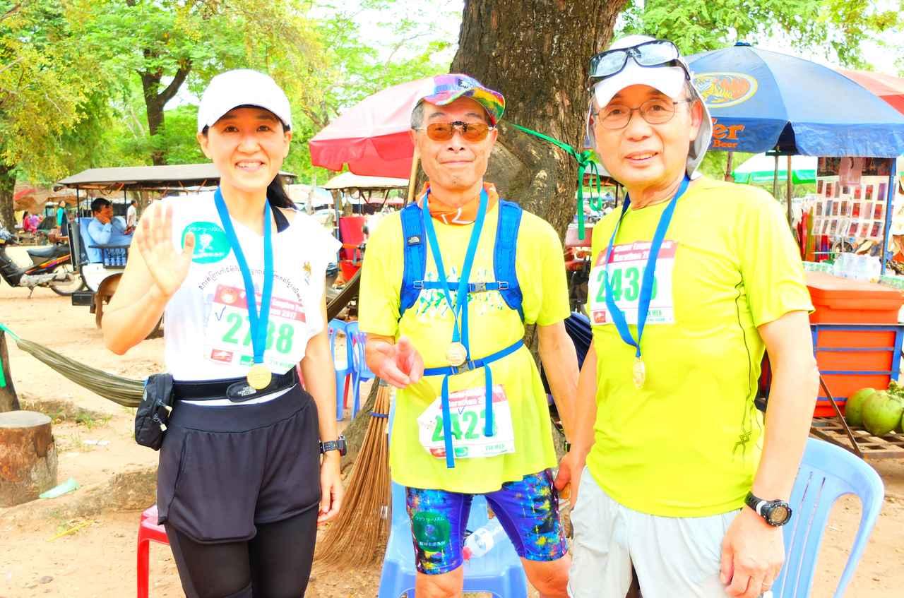 画像9: 8月6日マラソン大会当日 日中暑いアンコールワットエンパイアマラソンは早朝スタート。