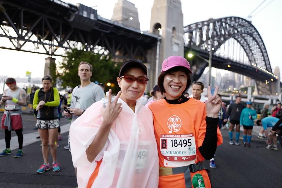 画像: まずはハーフマラソンスタート!!