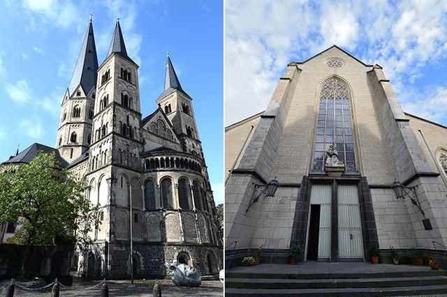 画像: ミュンスター聖堂(左)/聖レミギウス教会(右)