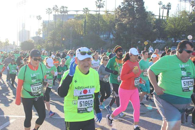 画像6: 【地球を走ろう】スタートはドジャースタジアム。LAを駆け巡る観光コース ロサンゼルスマラソン大会レポート