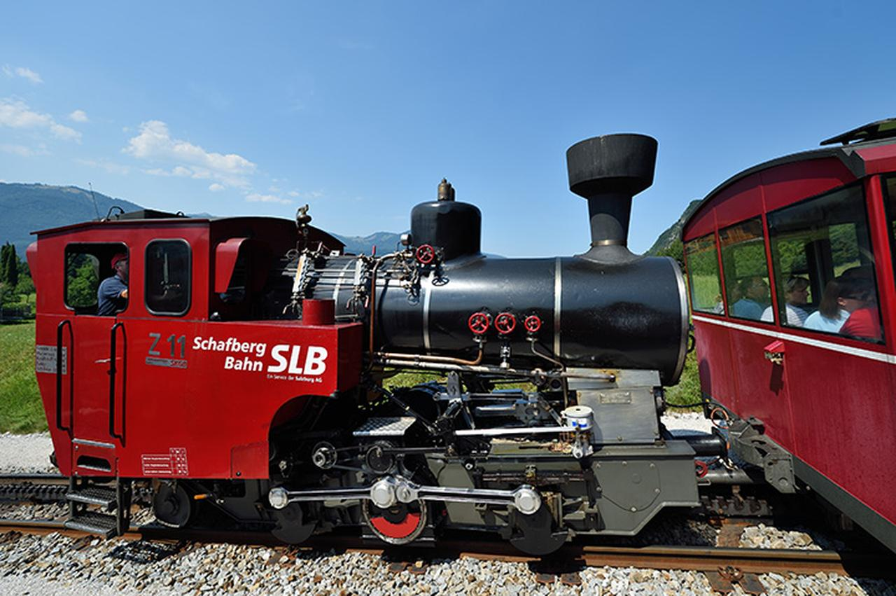 画像: シャーフベルク登山鉄道の蒸気機関車