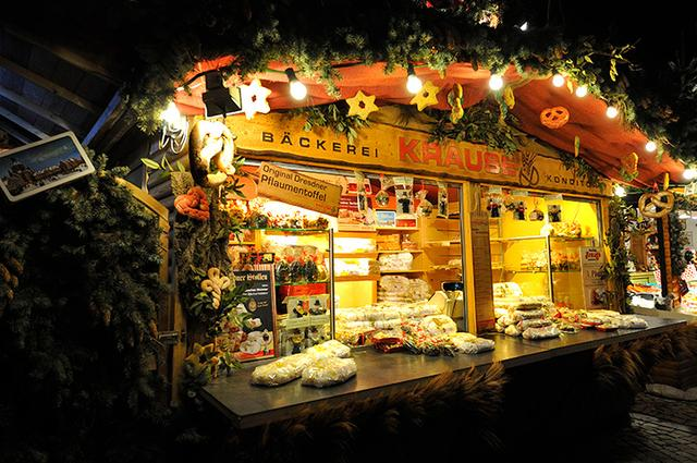 画像: クリスマス市で見かける「シュトレン」のお店