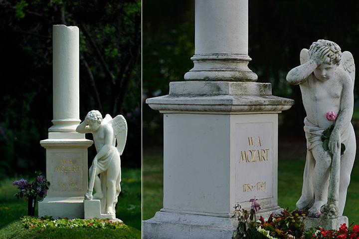 画像: 折れた柱、頭を抱える天使が象徴的な記念誌