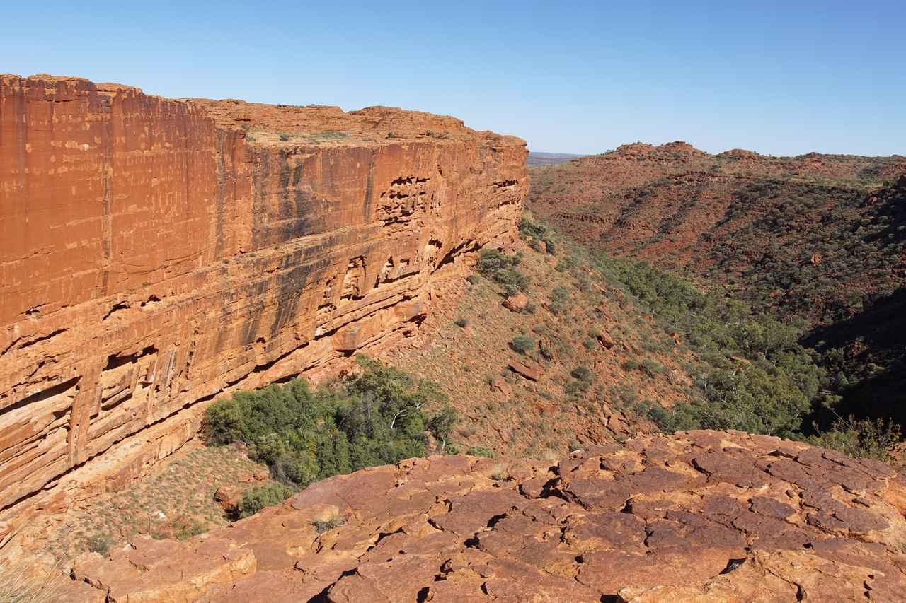 画像: キングスキャニオンの断崖絶壁は迫力満点