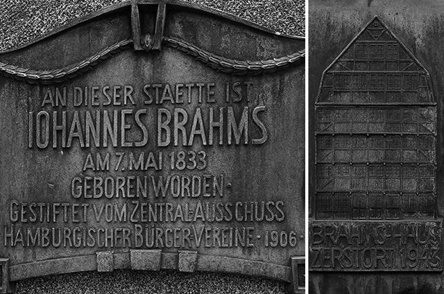 画像: ハンブルクの生家跡にある銘板
