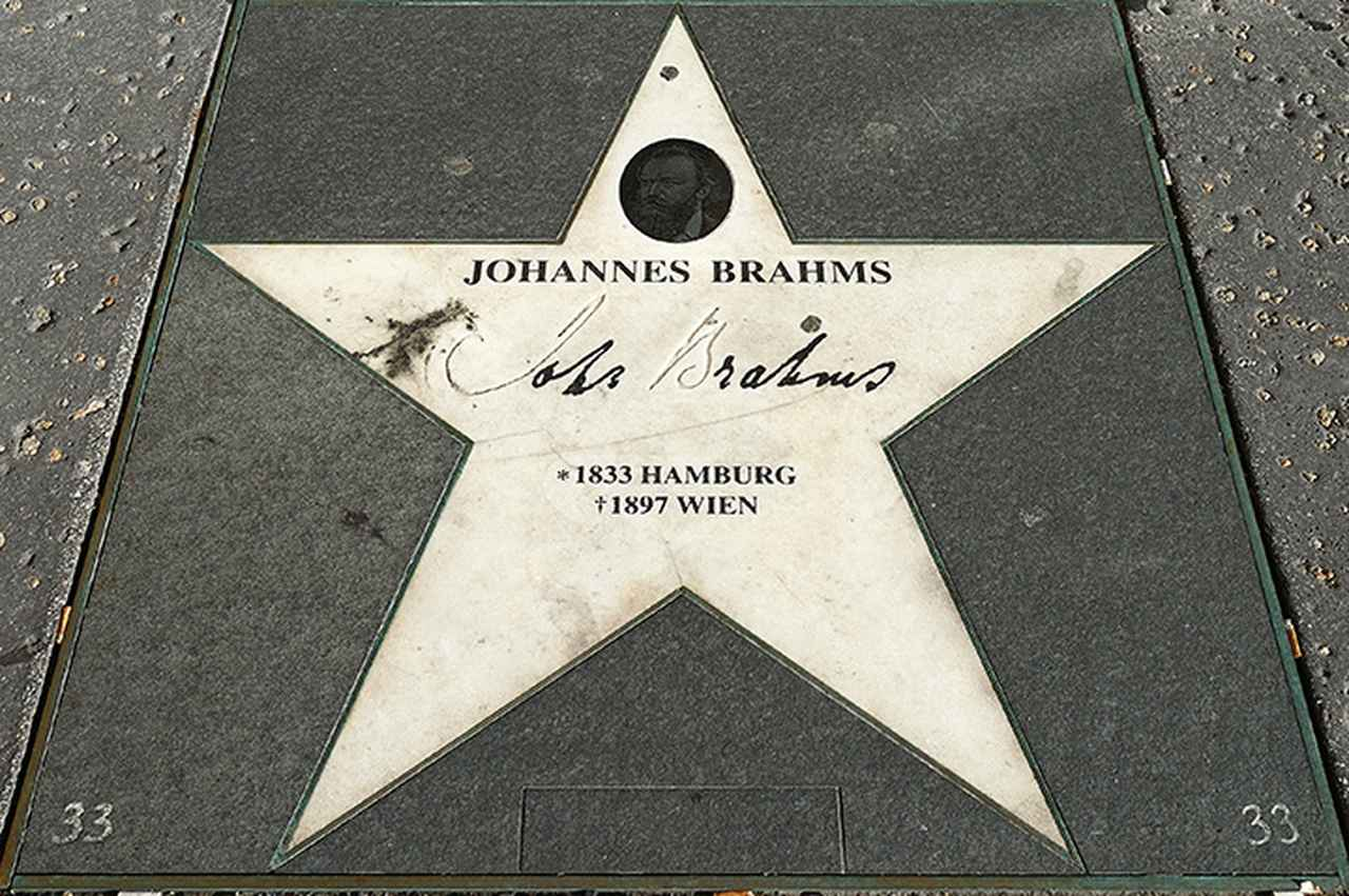 画像: 楽友協会ホール前にあるブラームスの「星」