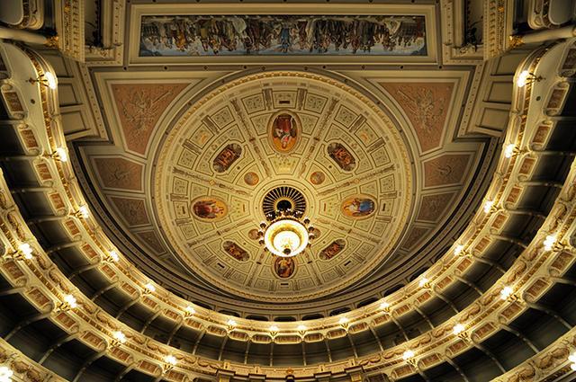 画像: 客席の天井画