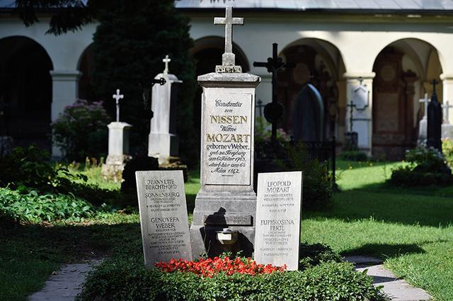 画像: 聖セバスティアン教会の墓地にあるモーツァルト家の墓所