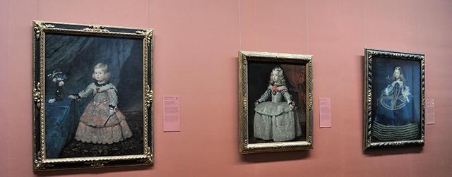 画像: ヴェラスケスが描いたマルガリータの3枚の肖像画 美術史美術館所蔵