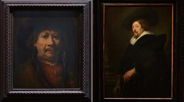 画像: レンブラント作「自画像」 ルーベンス作「自画像」 ウィーン美術史美術館蔵