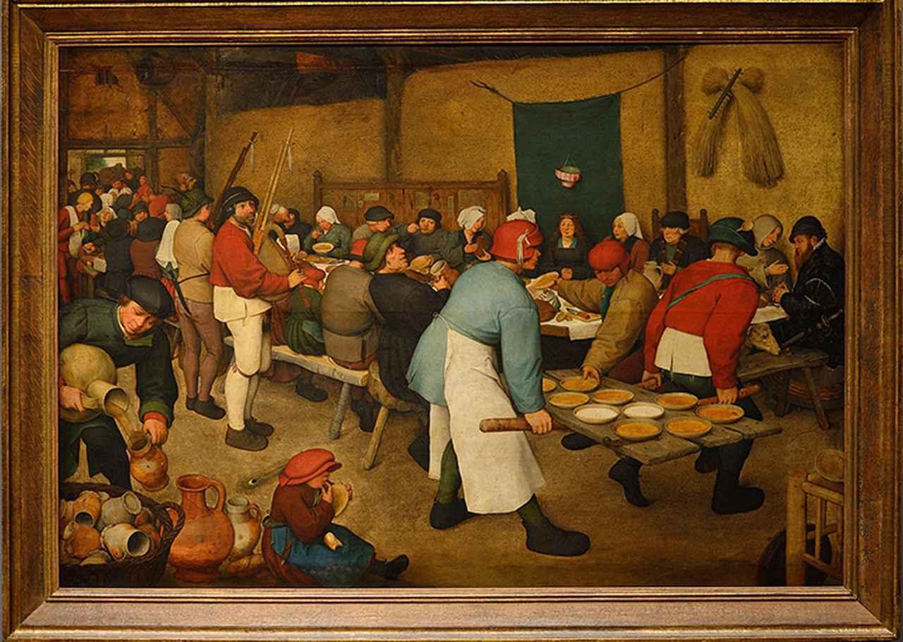 画像: ブリューゲル作「農家の婚礼」 ウィーン美術史美術館蔵