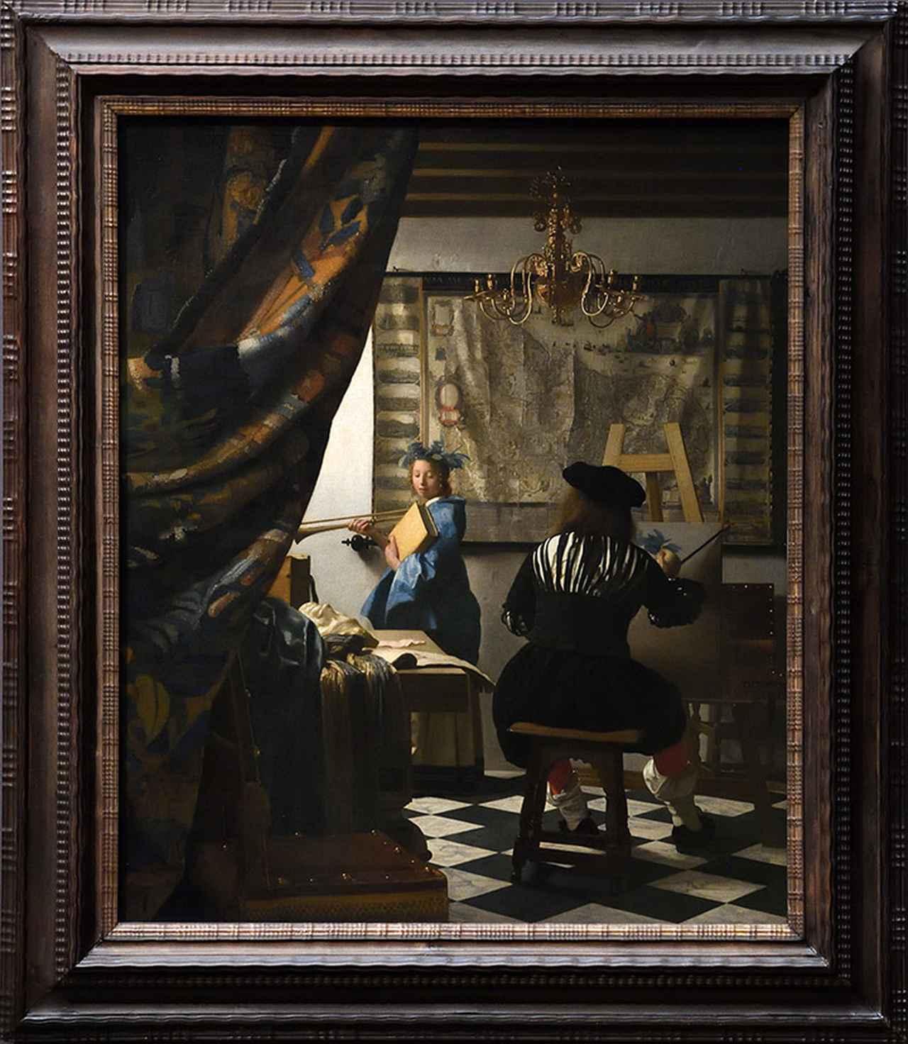 画像: フェルメール作「絵画芸術」 ウィーン美術史美術館蔵