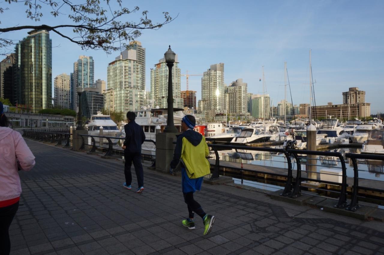 画像: ヨットーハーバーを横に見ながら走ります。景色の変化に富んだジョギングコースです
