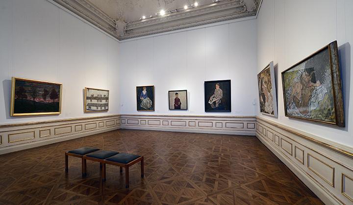 画像: オーストリア・ギャラリー内 シーレの部屋